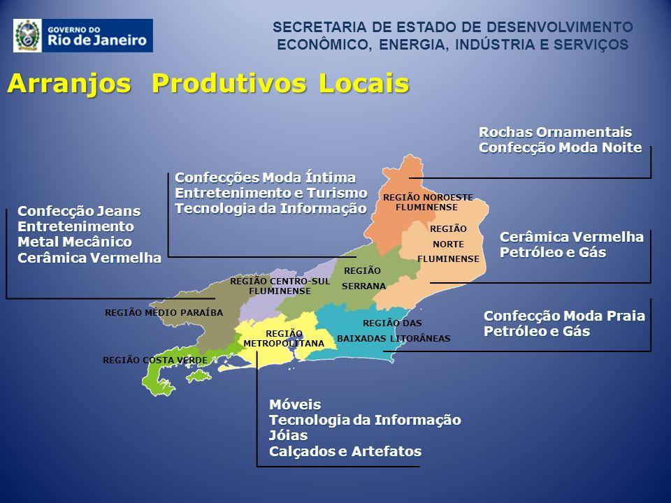 REGIÃO DAS BAIXADAS LITORÂNEAS REGIÃO COSTA VERDE REGIÃO MÉDIO PARAÍBA REGIÃO SERRANA REGIÃO NOROESTE FLUMINENSE REGIÃO NORTE FLUMINENSE REGIÃO CENTRO