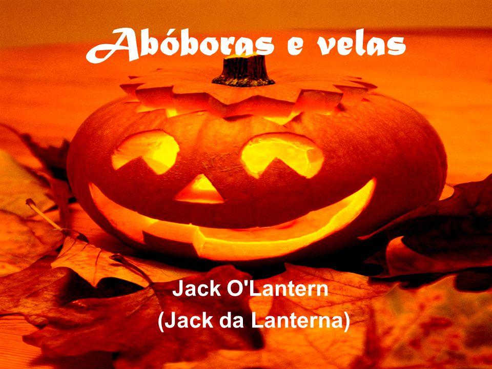 Abóboras e velas Jack O'Lantern (Jack da Lanterna)