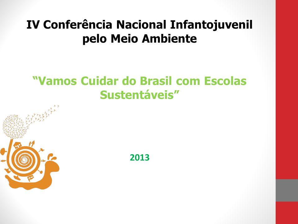 IV Conferência Nacional Infantojuvenil pelo Meio Ambiente Vamos Cuidar do Brasil com Escolas Sustentáveis 2013