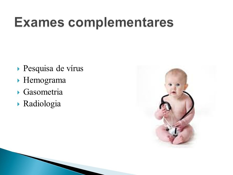 Pesquisa de vírus Hemograma Gasometria Radiologia