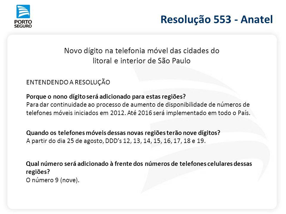Novo dígito na telefonia móvel das cidades do litoral e interior de São Paulo Quando os telefones móveis dessas novas regiões terão nove dígitos? A pa