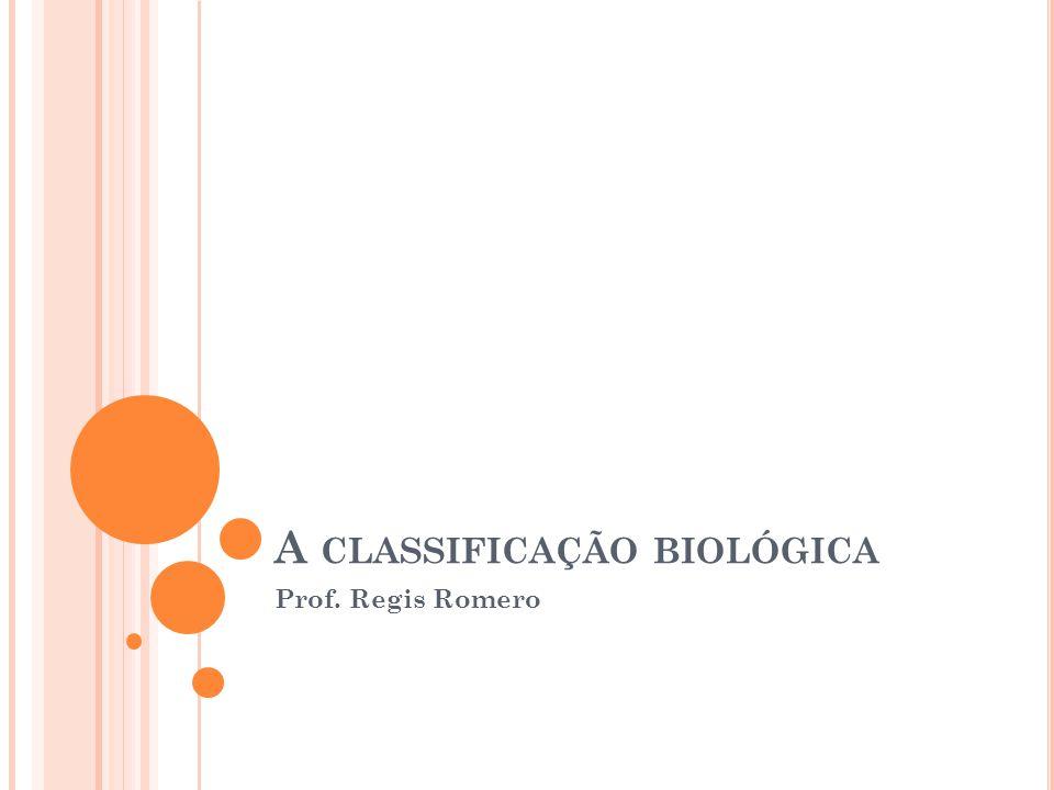 A CLASSIFICAÇÃO BIOLÓGICA Prof. Regis Romero
