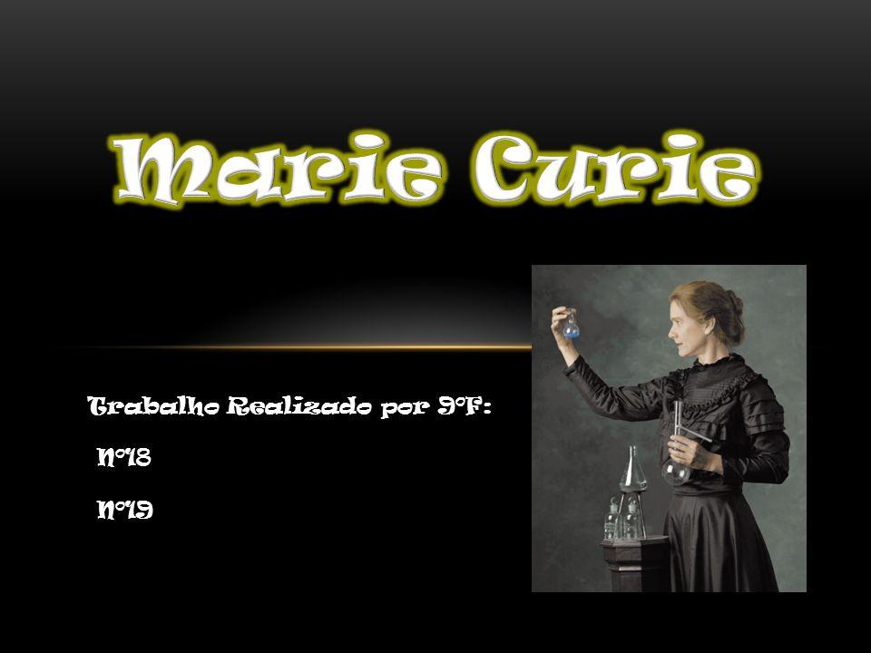 Biografia de Marie Curie Biografia de Marie Curie Os Prémios Nobel de Marie Curie Os Prémios Nobel de Marie Curie Marie Curie na 1ª Guerra Mundial Marie Curie na 1ª Guerra Mundial O que é o prémio Nobel.