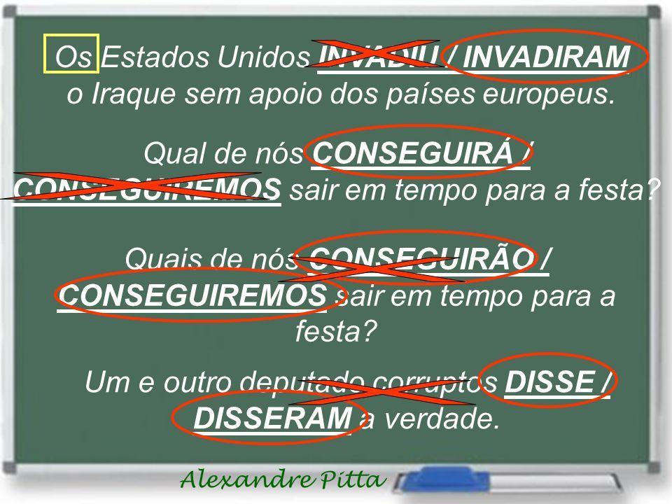 Alexandre Pitta Os Estados Unidos INVADIU / INVADIRAM o Iraque sem apoio dos países europeus.