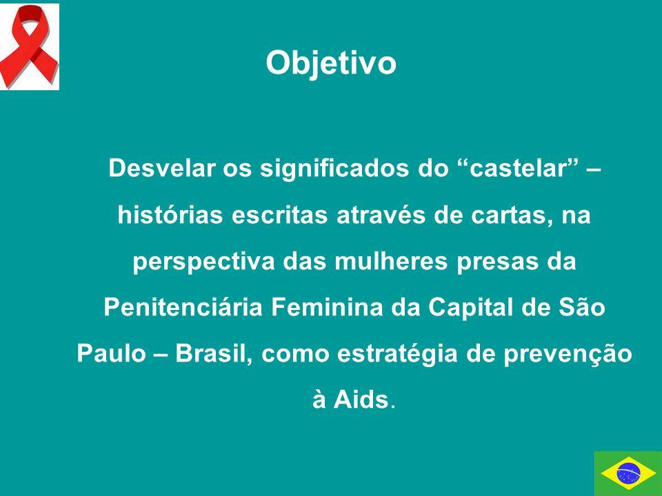 Objetivo Desvelar os significados do castelar – histórias escritas através de cartas, na perspectiva das mulheres presas da Penitenciária Feminina da Capital de São Paulo – Brasil, como estratégia de prevenção à Aids.