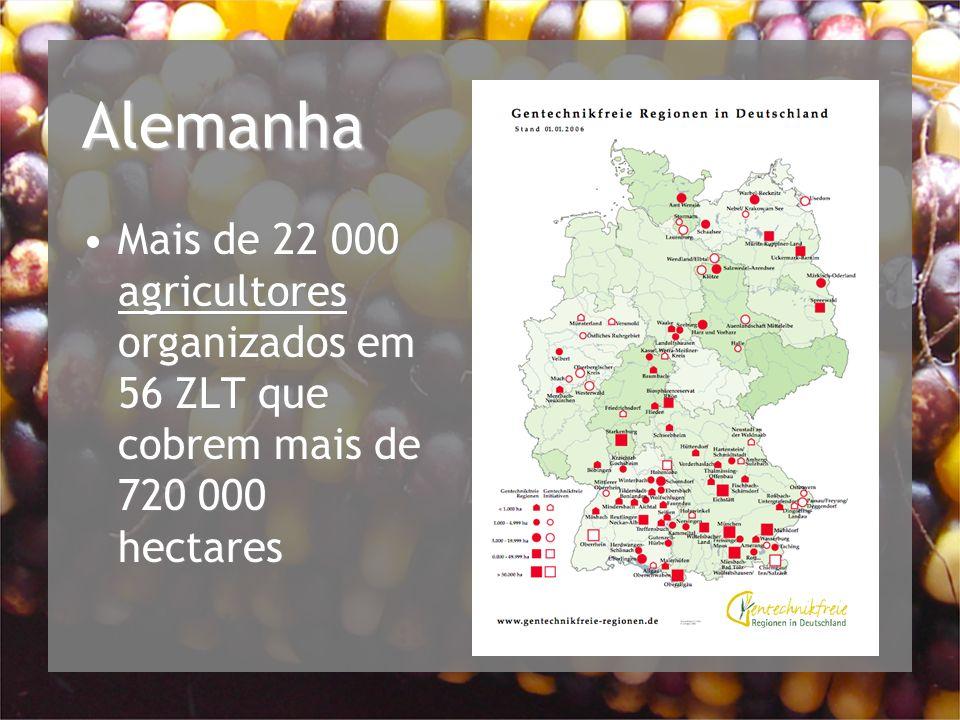 Alemanha Mais de 22 000 agricultores organizados em 56 ZLT que cobrem mais de 720 000 hectares