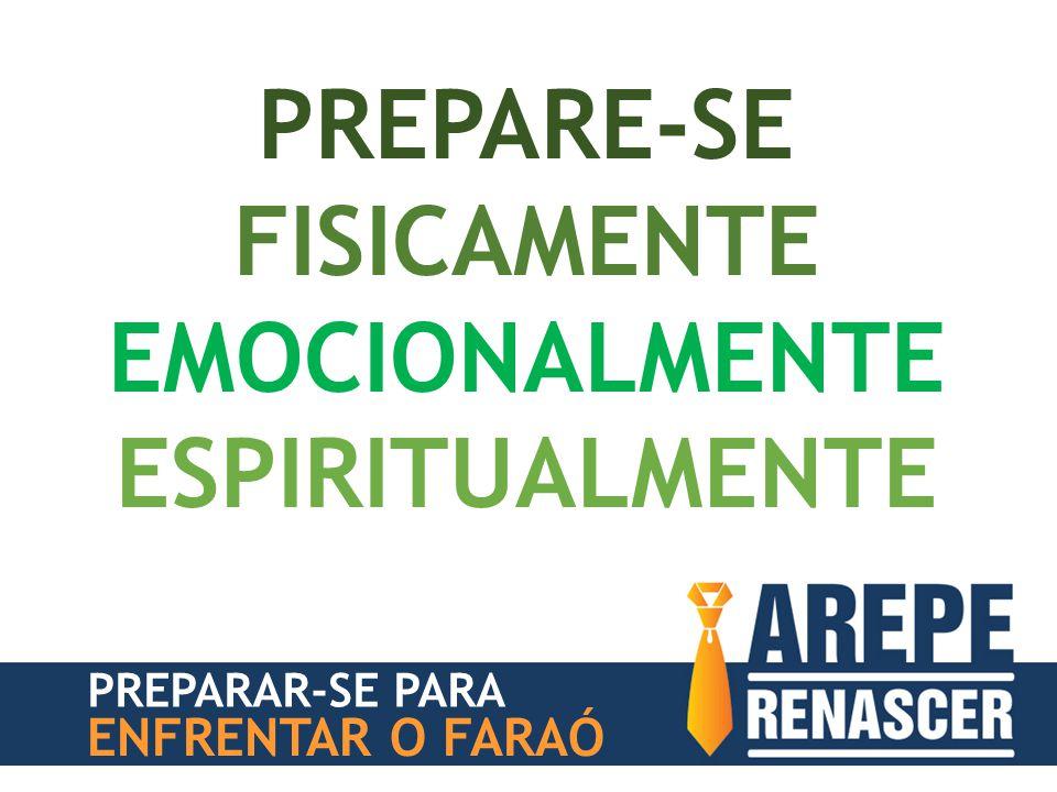 PREPARAR-SE PARA ENFRENTAR O FARAÓ PREPARE-SE FISICAMENTE EMOCIONALMENTE ESPIRITUALMENTE