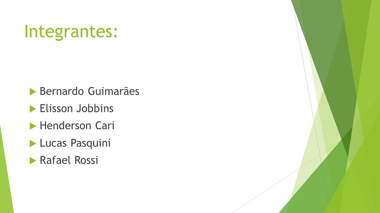 Integrantes: Bernardo Guimarães Elisson Jobbins Henderson Cari Lucas Pasquini Rafael Rossi