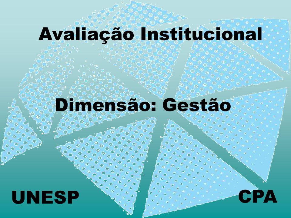 Avaliação Institucional CPA Dimensão: Gestão UNESP