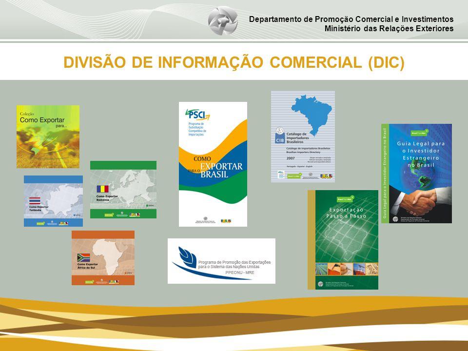 Departamento de Promoção Comercial e Investimentos Ministério das Relações Exteriores DIVISÃO DE INFORMAÇÃO COMERCIAL (DIC)