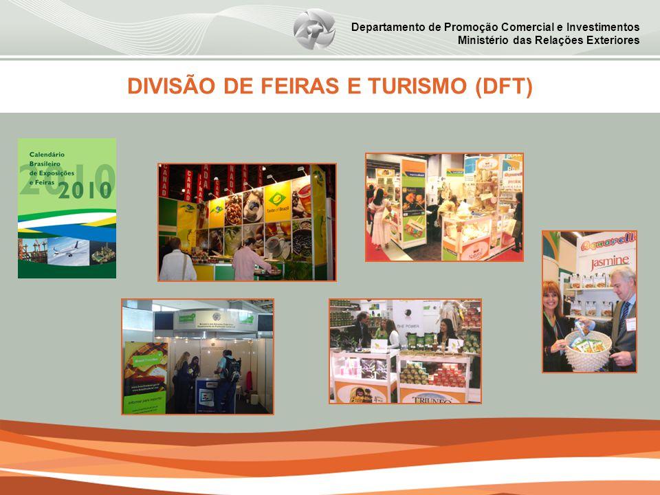 Departamento de Promoção Comercial e Investimentos Ministério das Relações Exteriores DIVISÃO DE FEIRAS E TURISMO (DFT)
