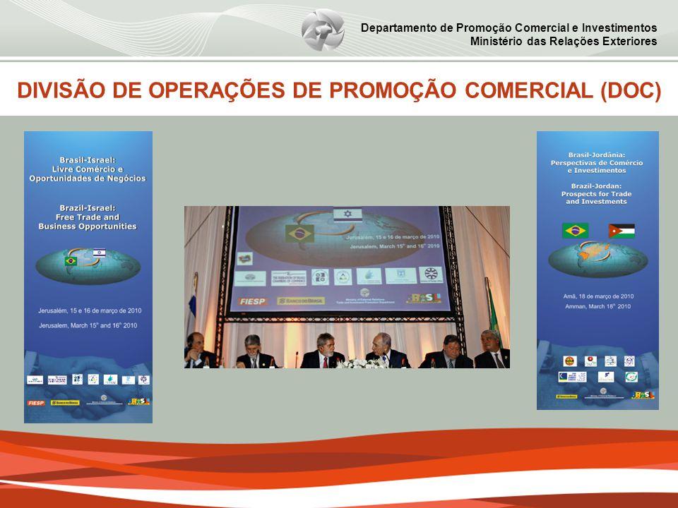 Departamento de Promoção Comercial e Investimentos Ministério das Relações Exteriores DIVISÃO DE OPERAÇÕES DE PROMOÇÃO COMERCIAL (DOC)