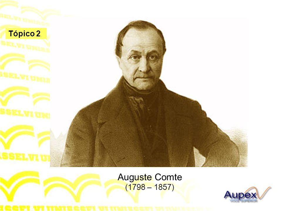 Auguste Comte (1798 – 1857)