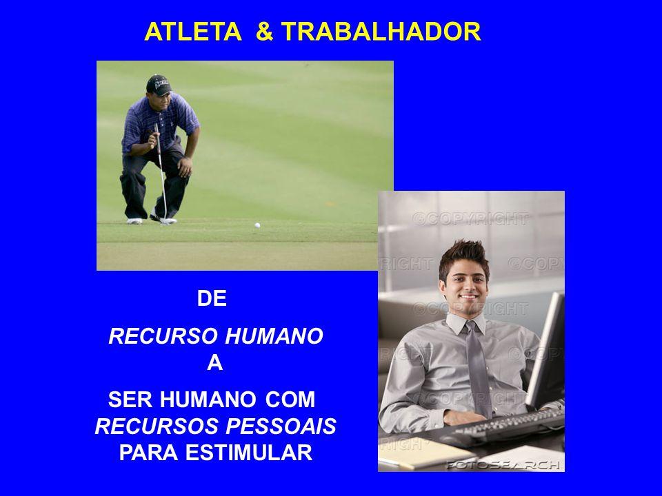 ATLETA & TRABALHADOR DE RECURSO HUMANO A SER HUMANO COM RECURSOS PESSOAIS PARA ESTIMULAR