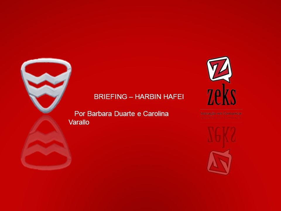 Expandir as vendas dos carros da marca. Objetivos do mercado BRIEFING – HARBIN HAFEI Por Barbara Duarte e Carolina Varallo