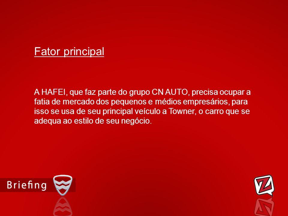 A HAFEI, que faz parte do grupo CN AUTO, precisa ocupar a fatia de mercado dos pequenos e médios empresários, para isso se usa de seu principal veícul
