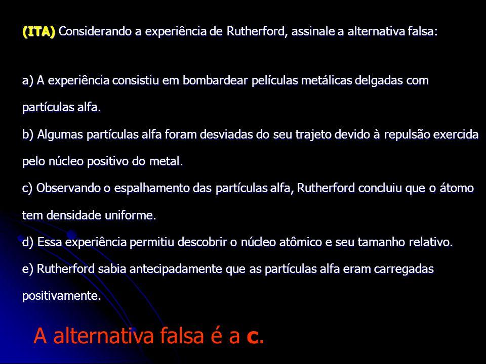 (UFMG) (UFMG) Dalton, Rutherford e Bohr propuseram, em diferentes épocas, modelos atômicos. Algumas características desses modelos são apresentadas ab