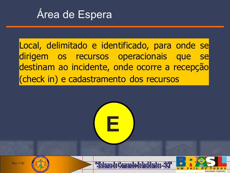 Área de Espera Local, delimitado e identificado, para onde se dirigem os recursos operacionais que se destinam ao incidente, onde ocorre a recepção (c