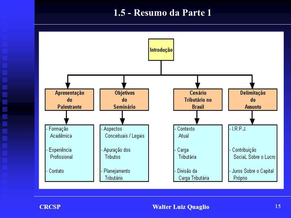 15 CRCSP Walter Luiz Quaglio 1.5 - Resumo da Parte 1