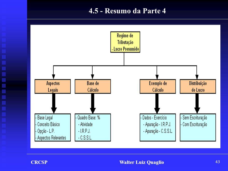 43 CRCSP Walter Luiz Quaglio 4.5 - Resumo da Parte 4