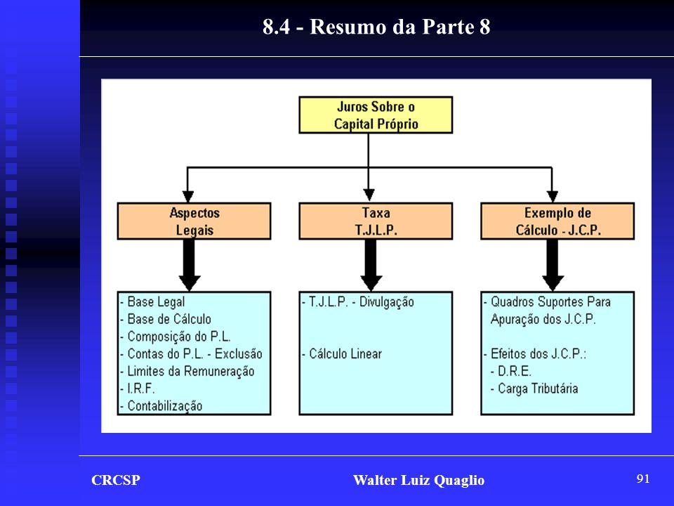 91 CRCSP Walter Luiz Quaglio 8.4 - Resumo da Parte 8