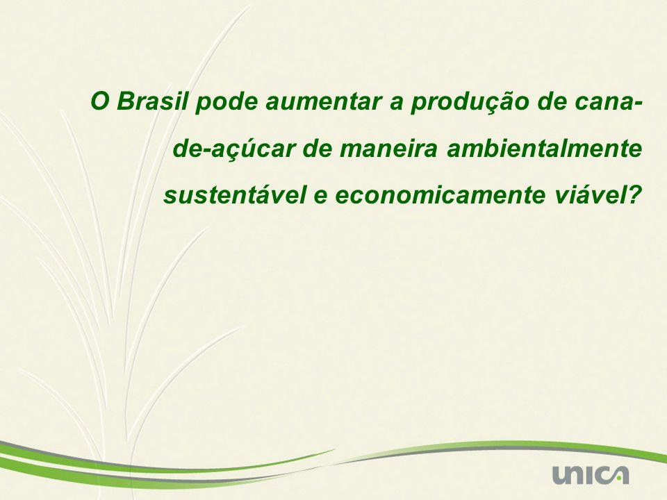 O Brasil pode aumentar a produção de cana- de-açúcar de maneira ambientalmente sustentável e economicamente viável?