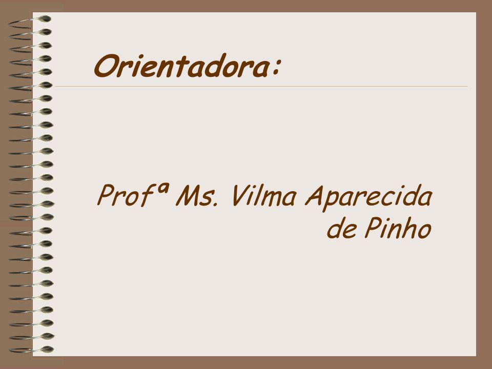 Orientadora: Profª Ms. Vilma Aparecida de Pinho