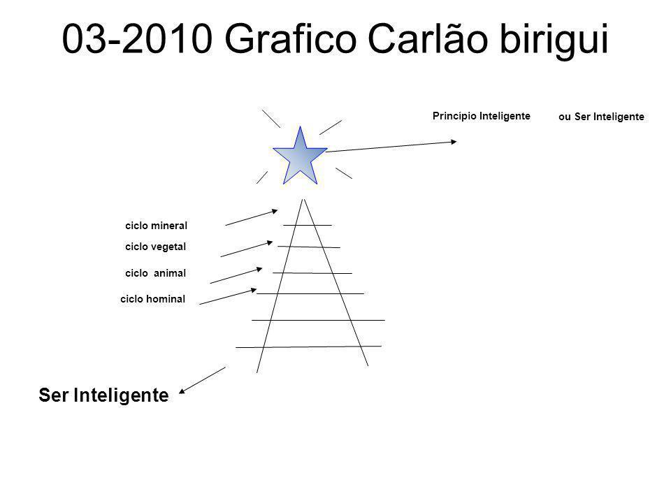 03-2010 Grafico Carlão birigui Princípio Inteligente ou Ser Inteligente ciclo mineral ciclo vegetal ciclo animal ciclo hominal Ser Inteligente