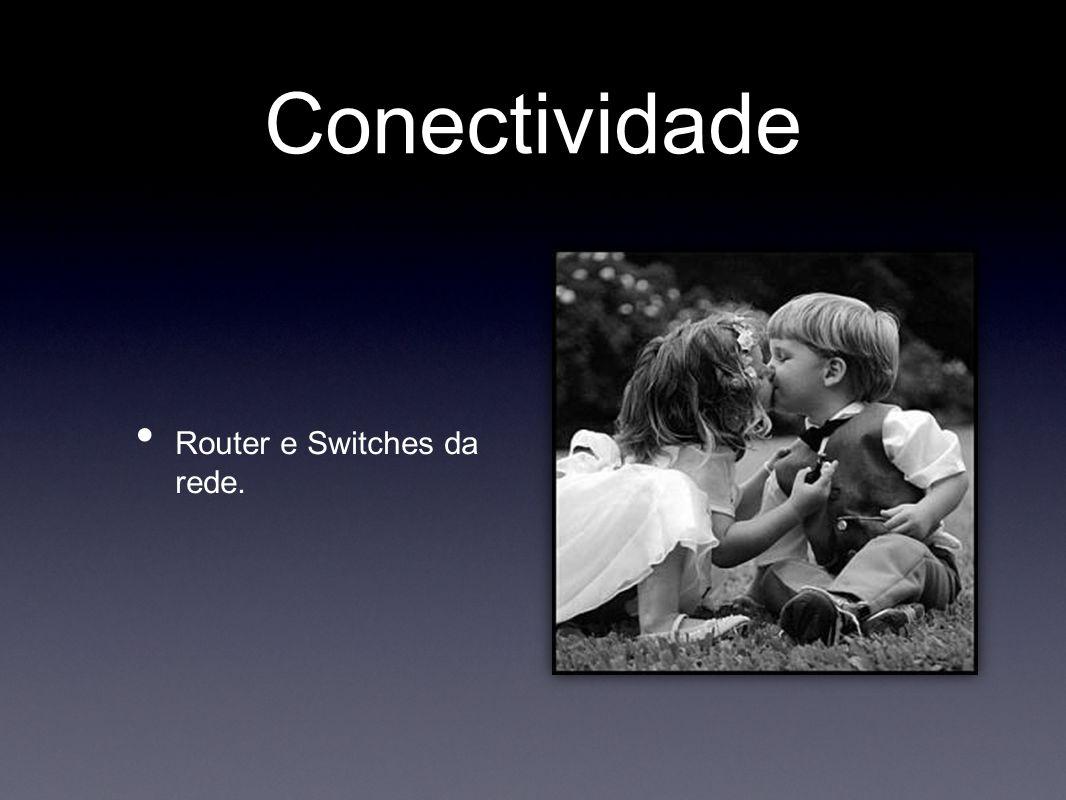 Conectividade • Router e Switches da rede.
