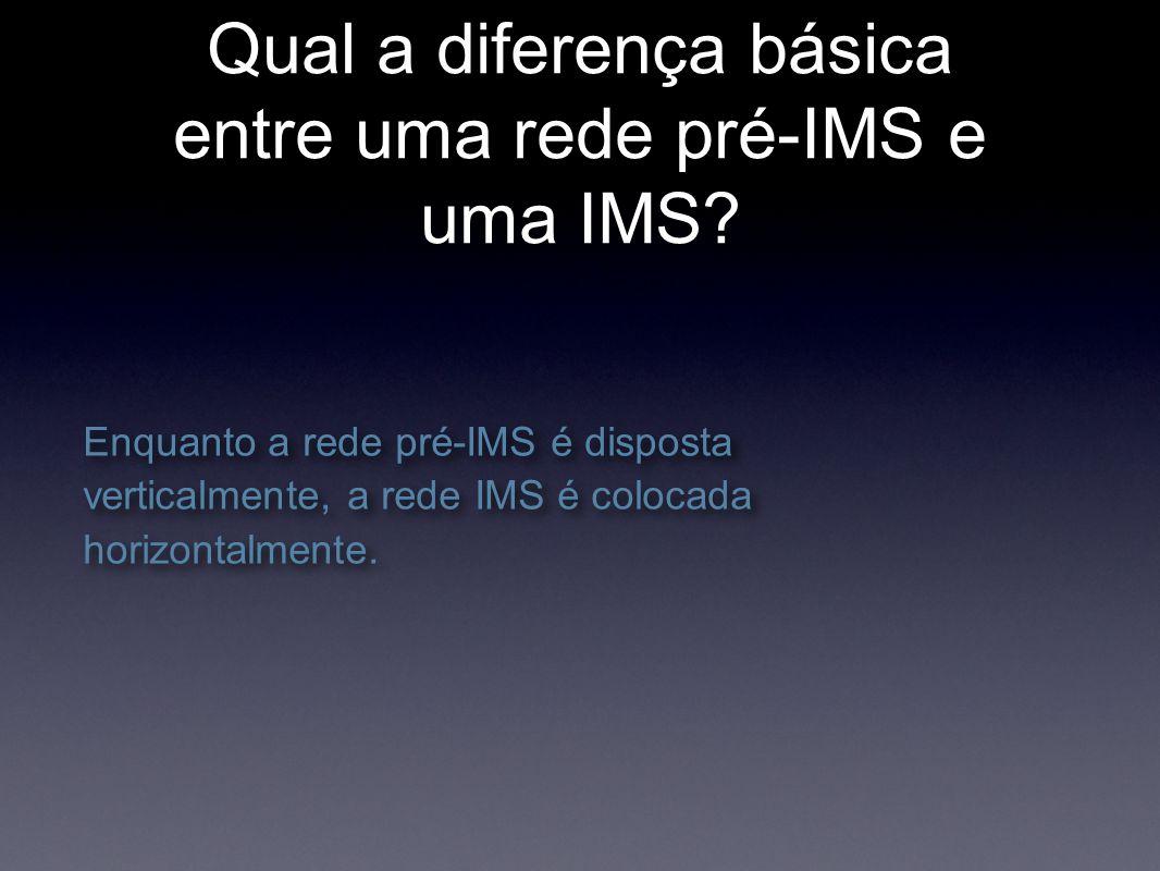 Qual a diferença básica entre uma rede pré-IMS e uma IMS.