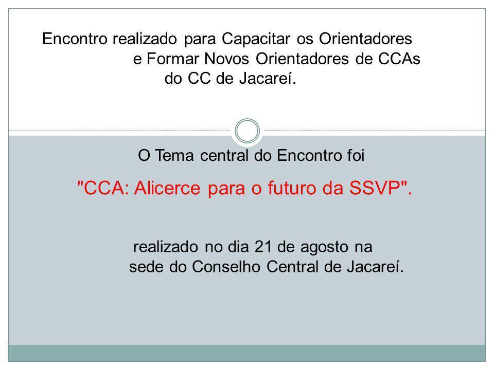 Encontro realizado para Capacitar os Orientadores e Formar Novos Orientadores de CCAs do CC de Jacareí.
