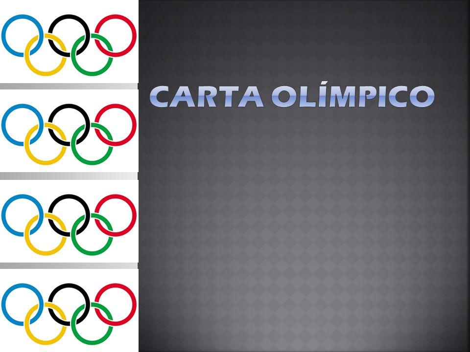 A Carta Olímpica é:  um conjunto de regras e guias para a organização dos Jogos Olímpicos, para o comando do Movimento Olímpico.