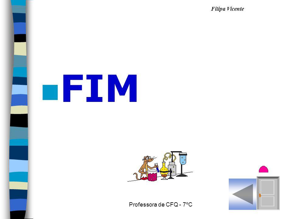 Filipa Vicente Professora de CFQ - 7ºC n FIM