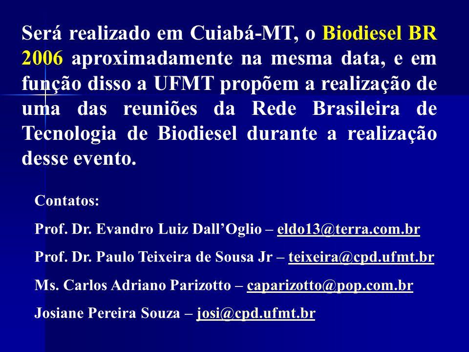 Contatos: Prof. Dr. Evandro Luiz Dall'Oglio – eldo13@terra.com.breldo13@terra.com.br Prof. Dr. Paulo Teixeira de Sousa Jr – teixeira@cpd.ufmt.brteixei