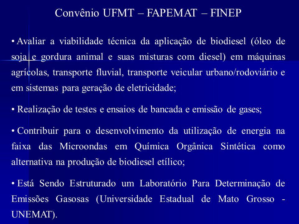 Projeto Biodiesel – Guariba.É um projeto firmado entre a ELETRONOTRE, UFMT e Fundação UNISELVA.
