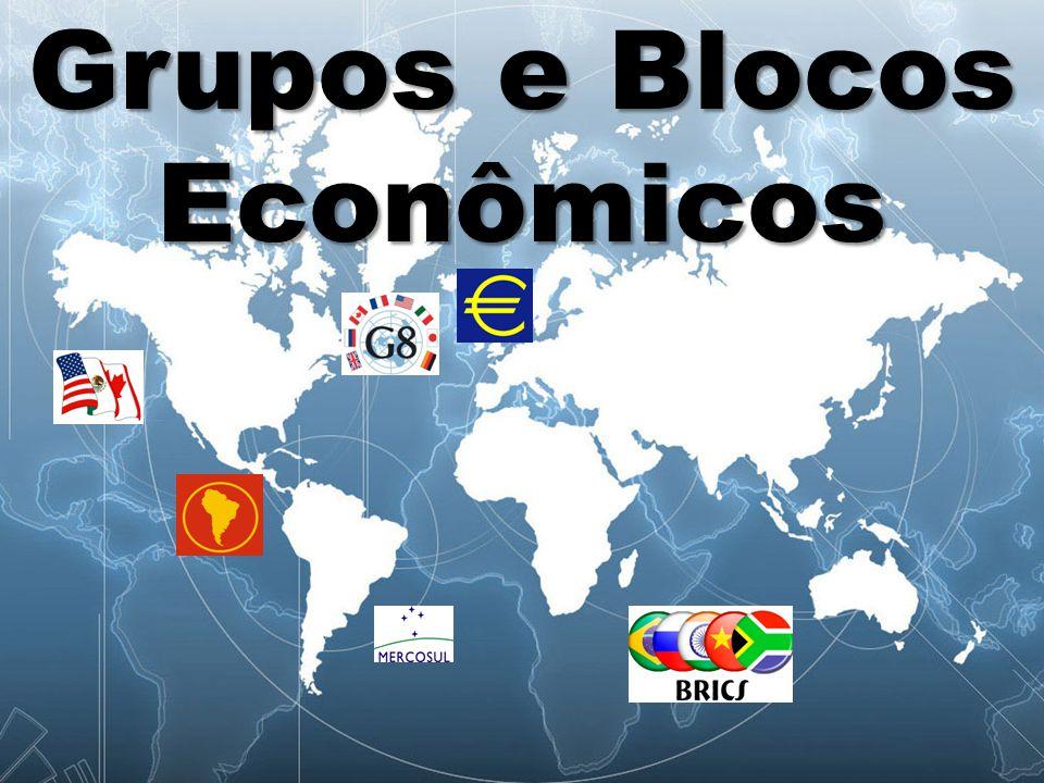 Modalidades de Integração Os blocos econômicos existentes são classificados a partir dos acordos estabelecidos entre eles, e podem ser agrupados em: -Zona de preferência tarifária -Zona de livre comércio -União aduaneira -Mercado comum -União econômica e monetária