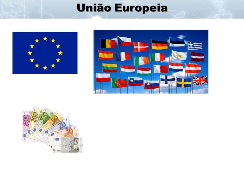 - 27 membros - União Econômica e Política - Conselho da UE, Tribunal de Justiça, Banco Central, Parlamento Europeu - em 2004 tentativa de criação de uma constituição.
