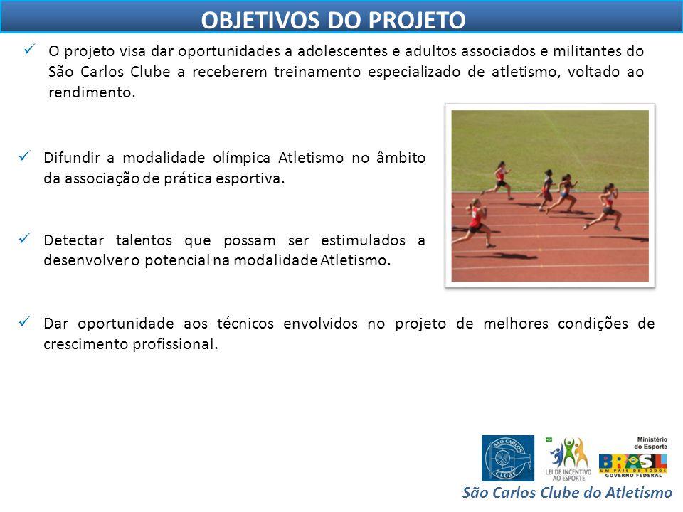 ESTRUTURA São Carlos Clube do Atletismo  A entidade possui instalações adequadas para a prática do atletismo( pista oficial).