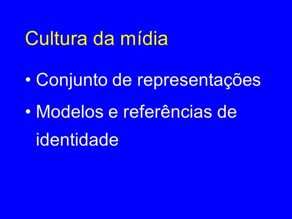 Cultura da mídia •Conjunto de representações •Modelos e referências de identidade