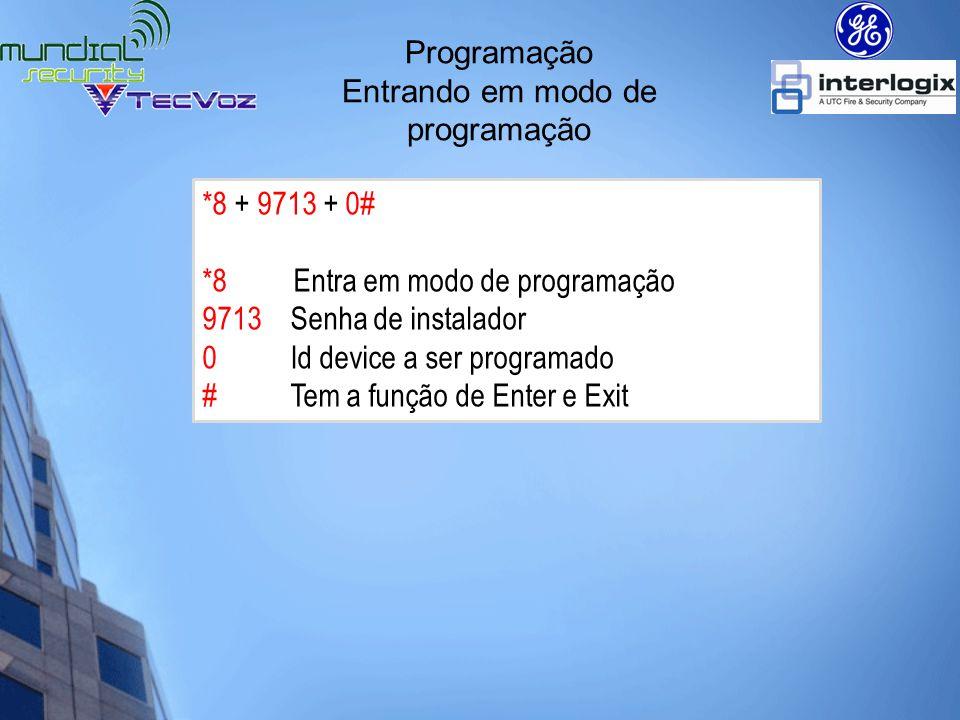 Programação Formato de programação ID Device a ser programado = É o dispositivo a ser programado.