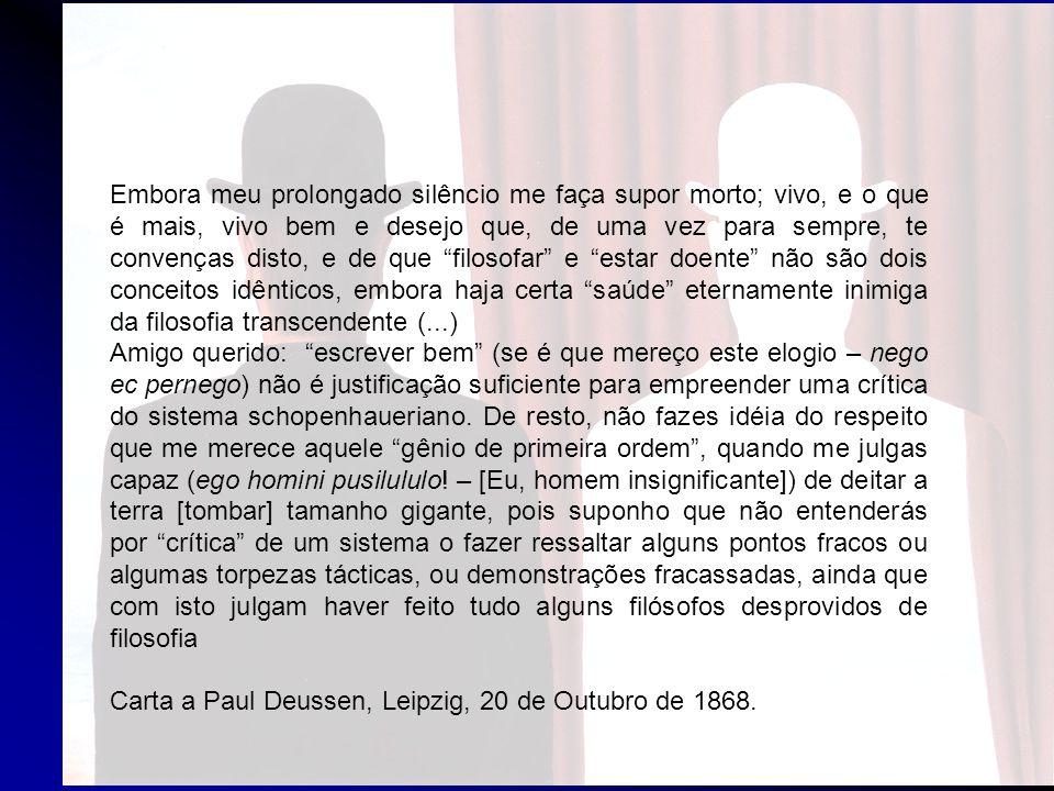SCHOPENHAUER COMO EDUCADOR – 1874 In: CONSIDERAÇÕES EXTEMPORÂNEAS