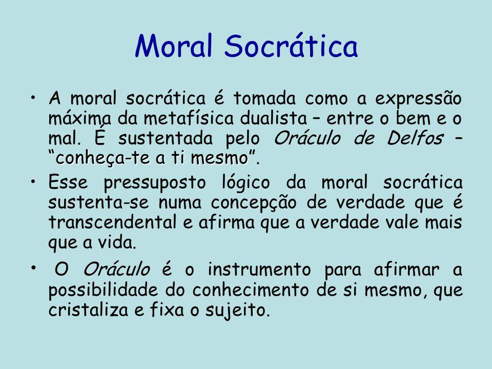 •Sócrates Apresenta o homem do conhecimento e; a crença nas idéias eternas, no ideal de bem e de mal e na verdade transcendental.