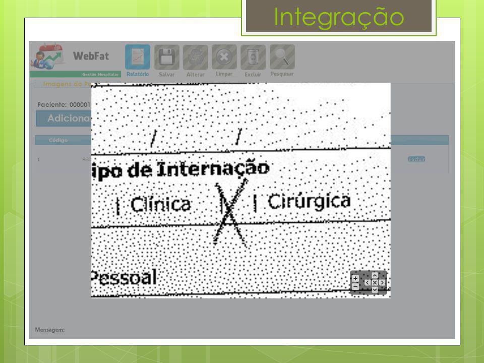 Integração Paciente: 00000183 - JOÃO PAULO | LOTE: 0 Imagens do Paciente Adicionar Imagens