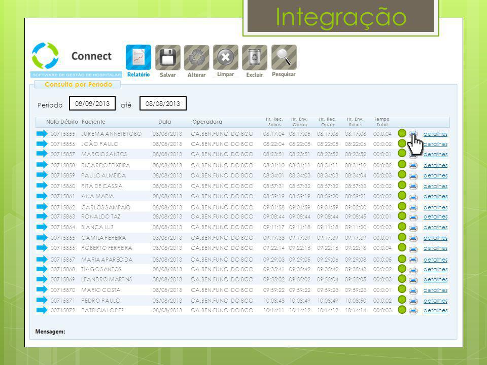 Integração 01/11/13 Impressão de Autorização 1100014333442 Dados do Beneficiário Beneficiário: JOÃO PAULO Número da Carteira: 09001017201250017 Validade: 25/07/2014 Plano: BASICO 301-GLOBAL/HOSP(ENF) Dados do Contratado Contratado: S.M.