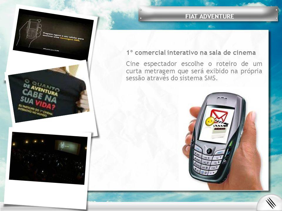 Publicidade em cartazetes A Pirelli aproveitou os espaços destinados a cartazetes para divulgar seu filme produzido com exclusividade para internet.
