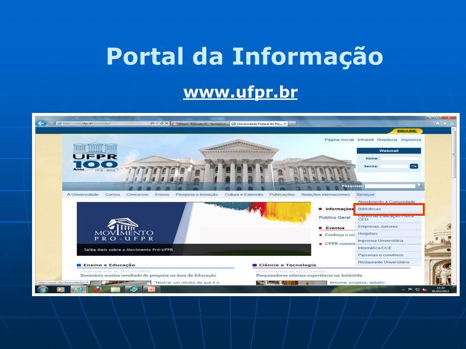 www.ufpr.br Portal da Informação