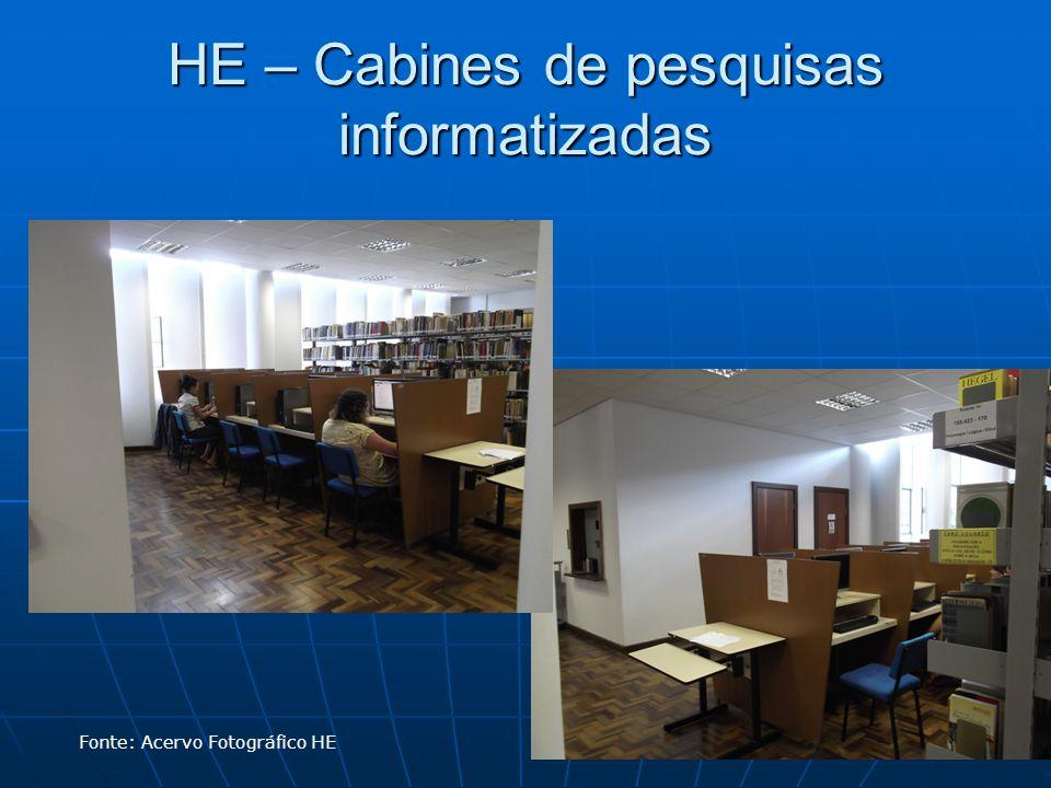 HE – Cabines de pesquisas informatizadas Fonte: Acervo Fotográfico HE