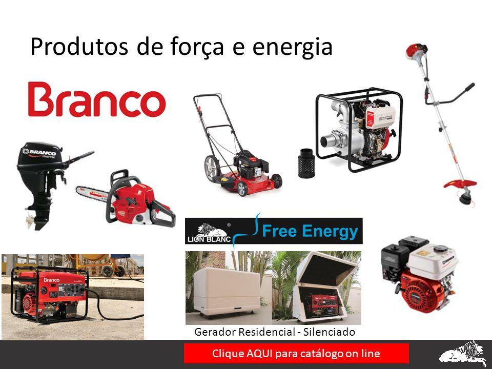 Produtos de força e energia Gerador Residencial - Silenciado Clique AQUI para catálogo on line