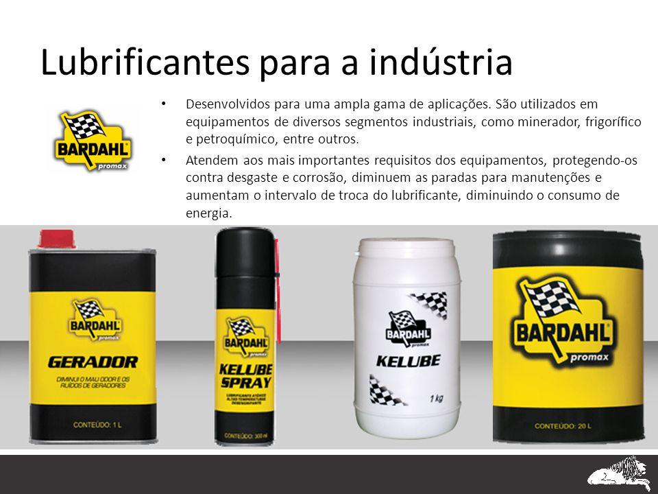 Lubrificantes para a indústria • Desenvolvidos para uma ampla gama de aplicações. São utilizados em equipamentos de diversos segmentos industriais, co