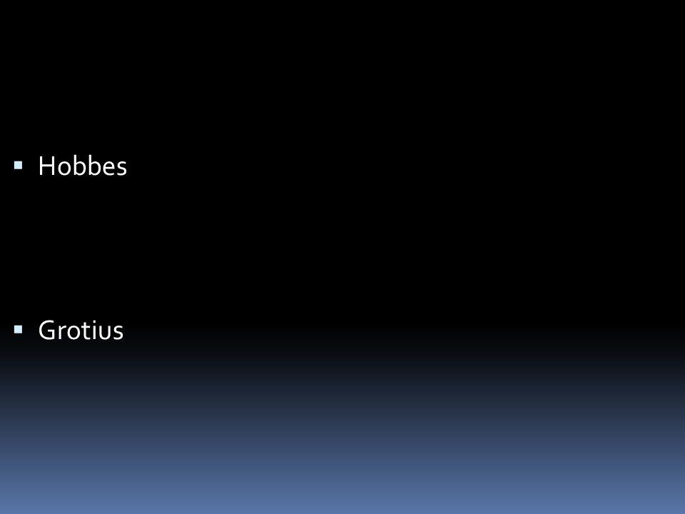  Hobbes  Grotius